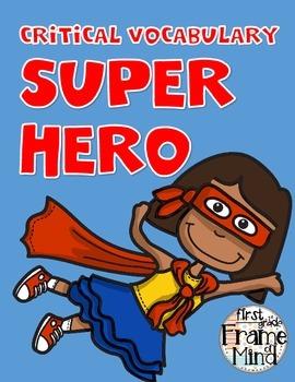 Common Core Vocabulary Super Hero