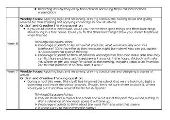 Critical and Creative Thinking Program (Doc, Editable)