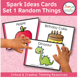 Critical and Creative Thinking Cards - Set 1 Random Things