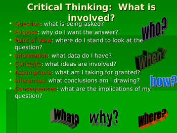 Critical and Creative Thinking PPT