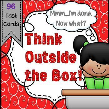 Critical and Creative Thinking Task Cards - Great for Early Finishers!