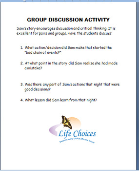 """Doing the Right Thing"" lesson, group activity and writing prompt"