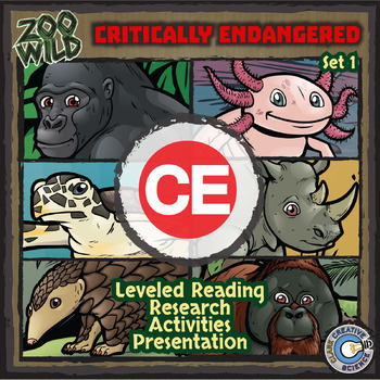 Critically Endangered Animals - Starter Bundle - Reading, Slides & Activities