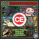 Critically Endangered Animals - Starter Bundle - Reading, Slides & Activities