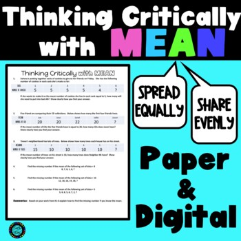 Thinking Critically with Mean