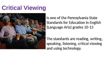Critically Viewing Film brief guidelines PowerPoint