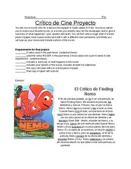 Crítico de Cine: Movie Critic, Past Tense Movie Project