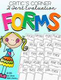 Critic's Corner: 21 Text Evaluation Forms for Big & Little Kids