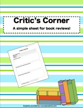 Critic's Corner - Book Review Sheet