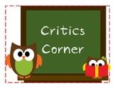 Critics Corner (Reading/Book Reviews)