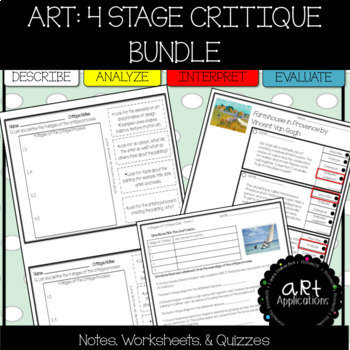 Art Critique 4 Stage Bundle