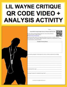 Lil Wayne Critique: CCSS-Aligned Literary Analysis Response Activity