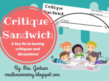 Critique Sandwich - Art Critique (Talk) for All Ages
