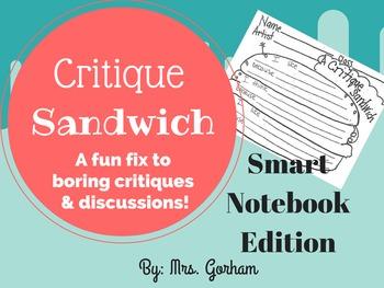 Critique Sandwich - Art Critique (Talk) for All Ages SmartNotebook File