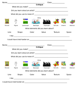 Critique for Elementary Students