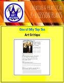 ART Critique, DBAE, (6 Printable Art Worksheets)  art lesson