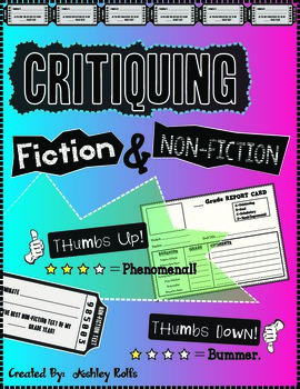 Critiquing Fiction & Non-Fiction Pack!