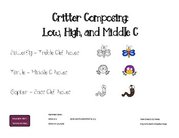 Critter Composing - Low, Medium, High