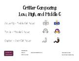 Critter Composing - Low, Medium, High