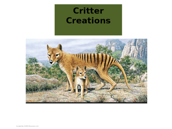 Critter Creations - Adaptation Activity
