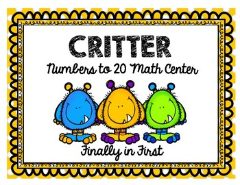 Critter Numbers to 20 Math Centers
