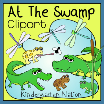 Creatures At The Swamp Clip Art ~ Color And B&W Transparent PNG Images