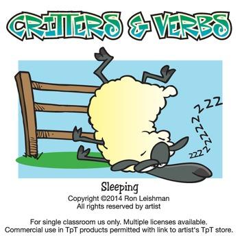 Critters & Verbs Cartoon Clipart