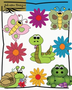 Critters and Butterfly Clipart