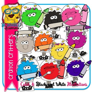 Critters with Crayons Outerspace Commercial Use Clipart
