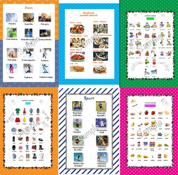 Croatian picture dictionaries BUNDLE 1 + some bonus flash cards