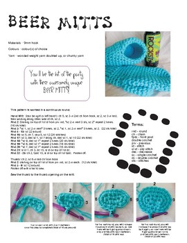 Crochet Drink Mitts Pattern