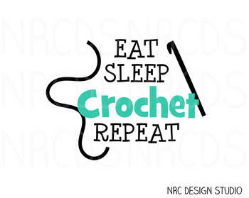 Crochet SVG Cutting File - Commercial Use SVG, DXF, EPS, png