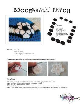 Crochet Soccer Ball Patch