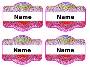 Crochet Theme Labels