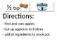 Crock Pot Apple Sauce Recipe Poster