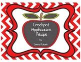 Crockpot Applesauce- Sequence of Events