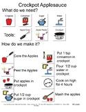 Crockpot Applesauce Snacktivity