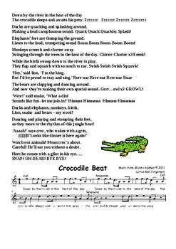 Crocodile Beat Complete Lyrics and Sheet Music