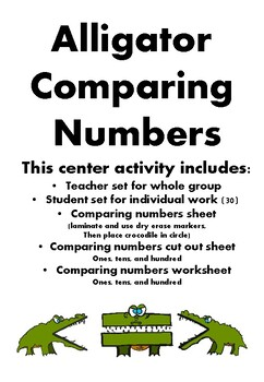 Crocodile Comparing Numbers Center