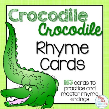 Word Family Rhyme Cards { Color and BW }