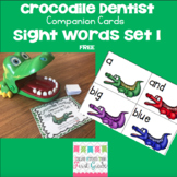Crocodile Dentist Companion Cards- Sight Words Set 1