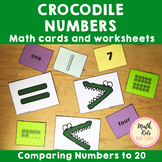 Crocodile Numbers - Comparing numbers to 20