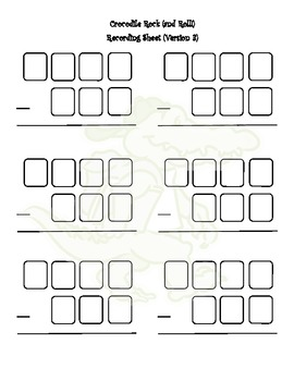 Crocodile Rock and Roll Differentiated Subtraction Game