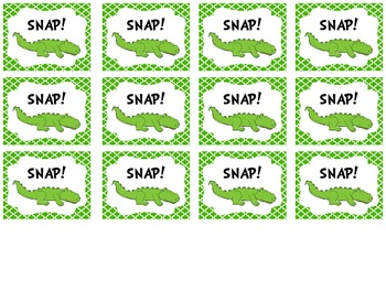Crocodile Snap! Sight Word Game
