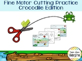 Crocodile Themed Fine-Motor Practice for Cutting / Tracing