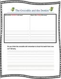 Crocodile and the Dentist Response sheet Graphic organizer comprehension retell