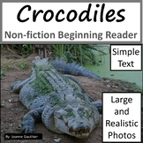 Crocodiles: Non-fiction animal e-book for beginning readers