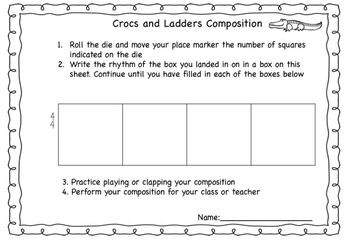 Crocs and Ladders - 6 Composition Games To Practice Rhythm