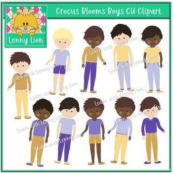 Crocus Blooms Boys Clipart