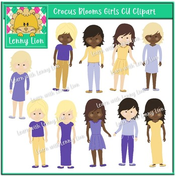 Crocus Blooms Girls Clipart
